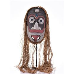 South Pacific Islander Dance Mask, Hand Painted