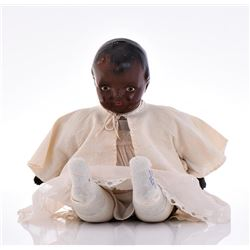 Antique Early 1900'S Black Baby Boy Doll.