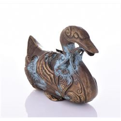 Antique Chinese Brass Duck.