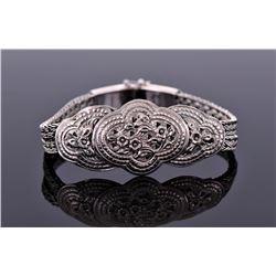 Vintage Sterling Silver Bracelet 37.2 Grams. Stamp