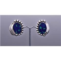 Azurite Sterling Silver Earrings.