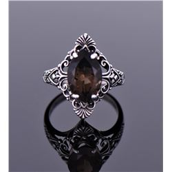 Smokey Quartz Sterling Silver Ring