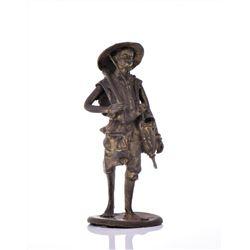 Vintage Bronze African Farmer.