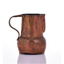 19Th Century Antique Copper Pitcher. Markings On