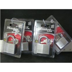 New set of 4 Master Locks / 2 large & 2 med