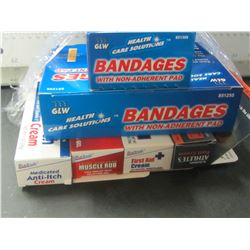 Lot of First Aid / Bandages / First Aid cream and more
