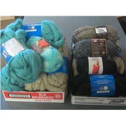 Large 2 Flat Bundle of New Yarn / Huge Value