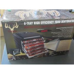 New 6 tray High Efficency Food Dehydrator/ digital display / timer up to 24hrs
