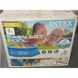 Intex 8 ft Easy set Pool with hose pump & filter / untested as is