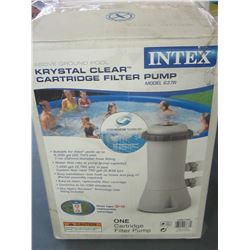 Intex Krystal Clear Cartridge filter Pump / untested as is