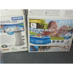 Intex 8 foot Pool with hoses pump and filter / untested as is