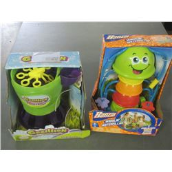 2 Kids Water Fun / Wigglin Waterpillar & Gazzilion Bubbles/ untested
