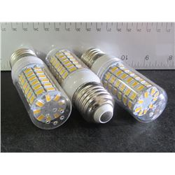 3 New 69 LED Cobb Lightbulb / warm white for living room or bedroom