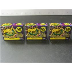 Bang Pops / 3 packs of 50 each / throw em drop em BIG bang
