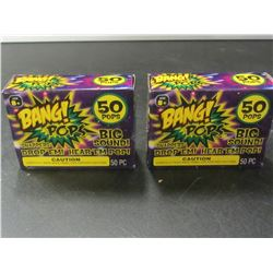 Bang Pops / 2 packs of 50 each / throw em drop em BIG bang