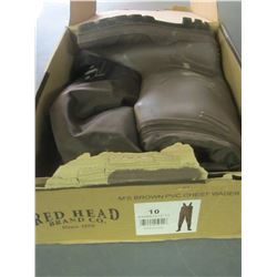 Red Head Chest waders size 10 boot/ Have been worn once