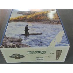 White River Mens Breathable waist high stocking foot waders/size large
