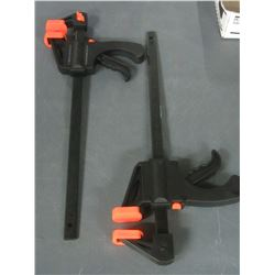 2 Ratcheting Bar Clamps 12 inch