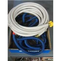 Flat with 2 Hoses / white Hose is a 25 foot RV Hose