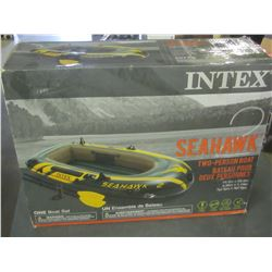 Intex SeaHawk 2 Person Boat / with pump / 2 paddles / 1 paddle pole is