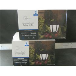 New Hanging Coach Solar LED Lights / 2 boxes of 2 lights each / 4 total