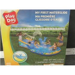 """New My First Waterslide / ages 2+ / 98"""" long x 56 wide x 24"""" high"""