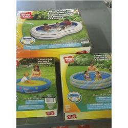 """3 different size Pools / 48"""" - 62"""" and 100 inch"""