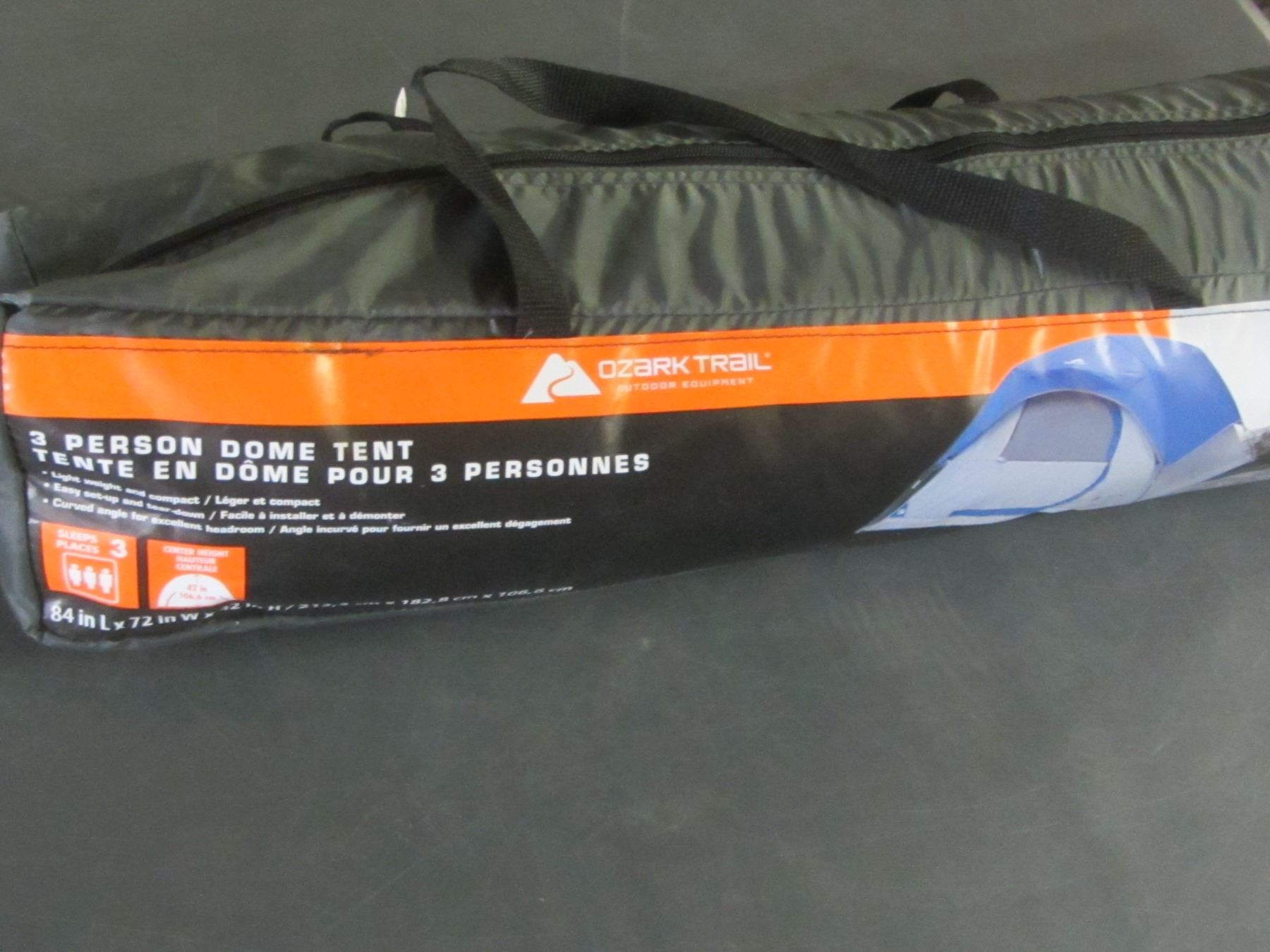 Ozark Trail 3 Person Tent in carry bag