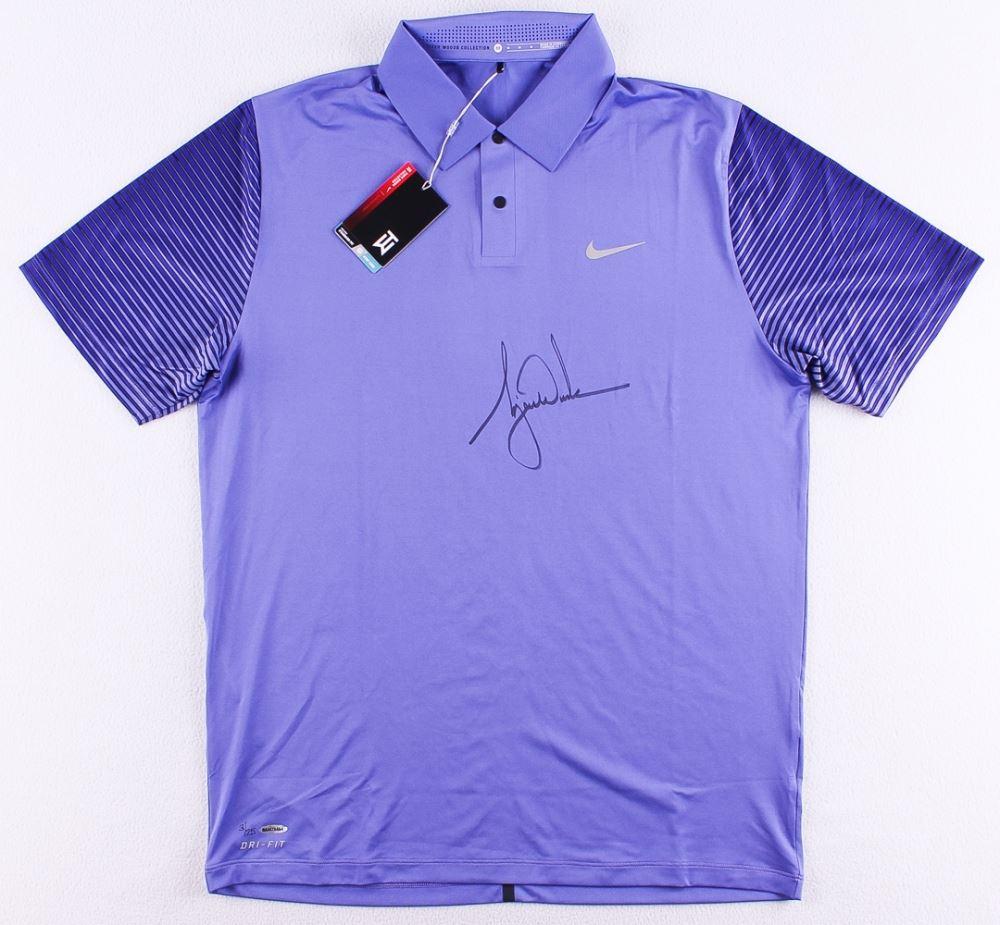 bd36bc93 Image 1 : Tiger Woods Signed LE Purple Nike Golf Shirt (UDA COA)