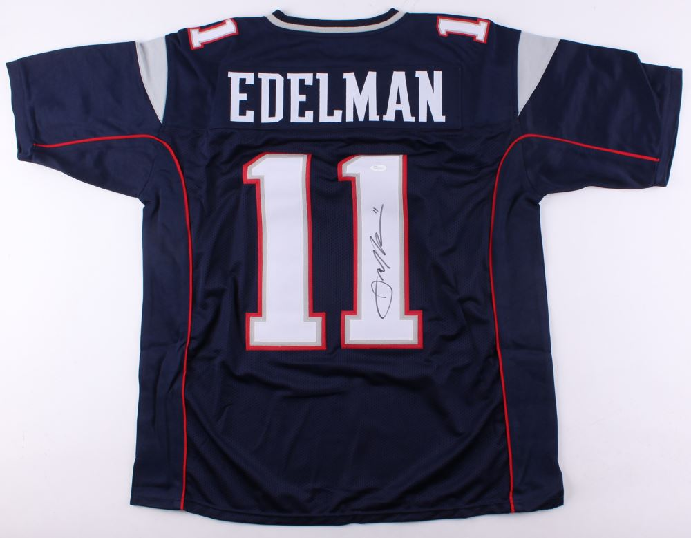 reputable site 2e57c 9a6fb Julian Edelman Signed Patriots Jersey (JSA COA)