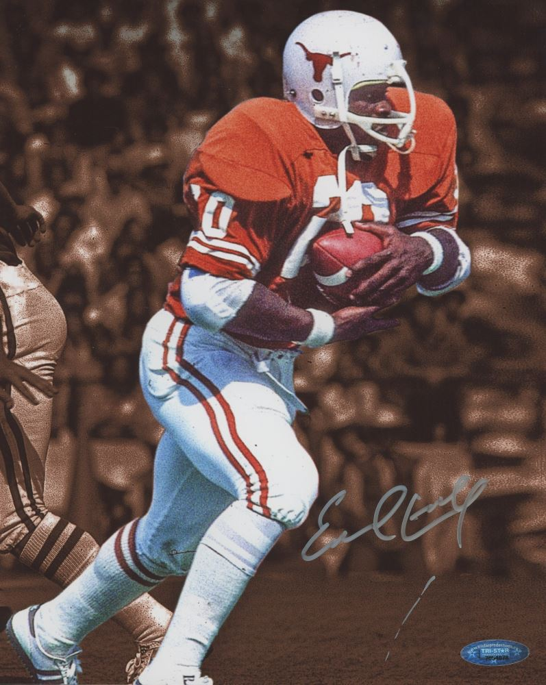 new styles aff64 59142 Earl Campbell Signed Texas Longhorns 8x10 Photo (TriStar ...