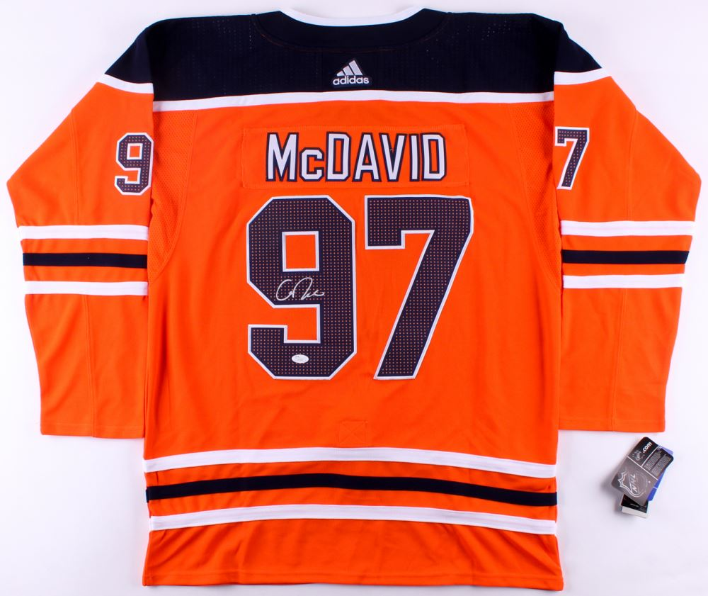 hot sale online 6db07 0a0ac Connor McDavid Signed Oilers Captain Jersey (JSA Hologram)