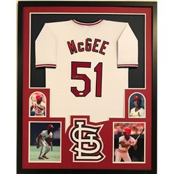 check out 8fc0e 4add8 Willie McGee Signed Cardinals 34x42 Custom Framed Jersey ...