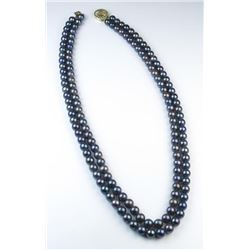 18CAI-50 BLACK PEARL NECKLACE