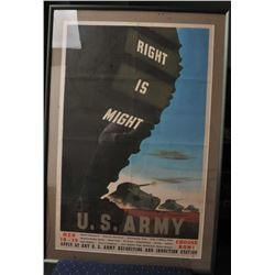 18DBK-7 FRAMED  MATTED RECRUITING POSTER
