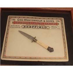18DO-1 GEO. WOSTENHOLM ADV.  KNIFE