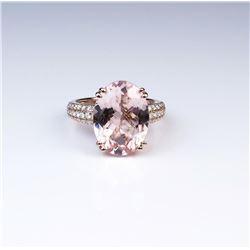 18CAI-23 MORGANITE  DIAMOND RING