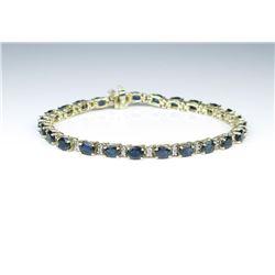18CAI-71 BLUE SAPPHIRE  DIAMOND BRACELET