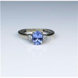 18CAI-57 TANZANITE  DIAMOND RING