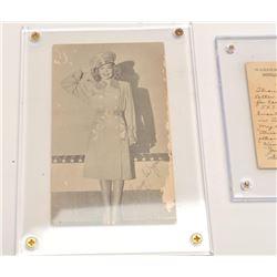 17FU-19 RONALD REGAN/JANE WYMAN WW2 PHOTO POSTCARD