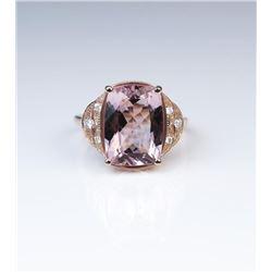 18CAI-29 MORGANITE  DIAMOND RING