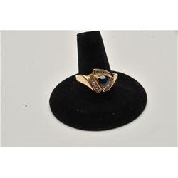 18RPS-23 SAPPHIRE  DIAMOND RING