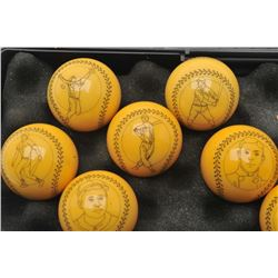 18DH-9 HAND ETCHED SNOOKER BALLS