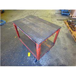 "Heavy Duty Steel Frame Rolling Cart, Overall: 38"" x 26"" x 35"""