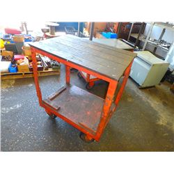 "Heavy Duty Steel Frame Rolling Cart, Overall: 38"" x 26"" x 45"""