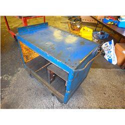 "Heavy Duty Steel Frame Rolling Cart, Overall: 40"" x 25"" x 36"""