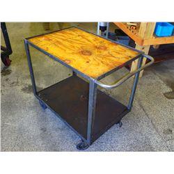 "Heavy Duty Steel Frame Rolling Cart, Overall: 53"" x 30"" x 30"""