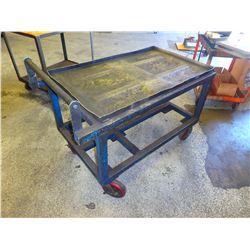 "Heavy Duty Steel Frame Rolling Cart, Overall: 42"" x 25"" x 36"""
