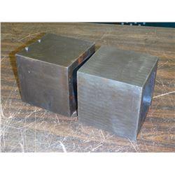 """4"""" x 4"""" x 4"""" Steel Machining Blocks, 5/8"""" Thick"""