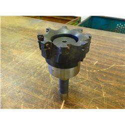 """R8 Shank Shell End Mill Holder with Iscar 4"""" Face Mill"""